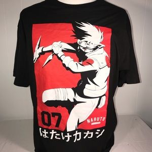 NARUTO Graphic Tee Shirt Size XXL Black and Red